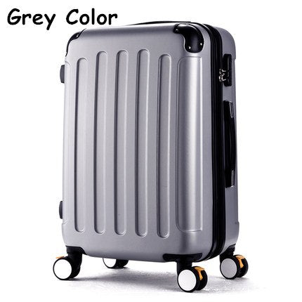 Wholesale!High Quality 22Inches Candy Color Abs Pc Travel Luggage Bags On Brake Universal