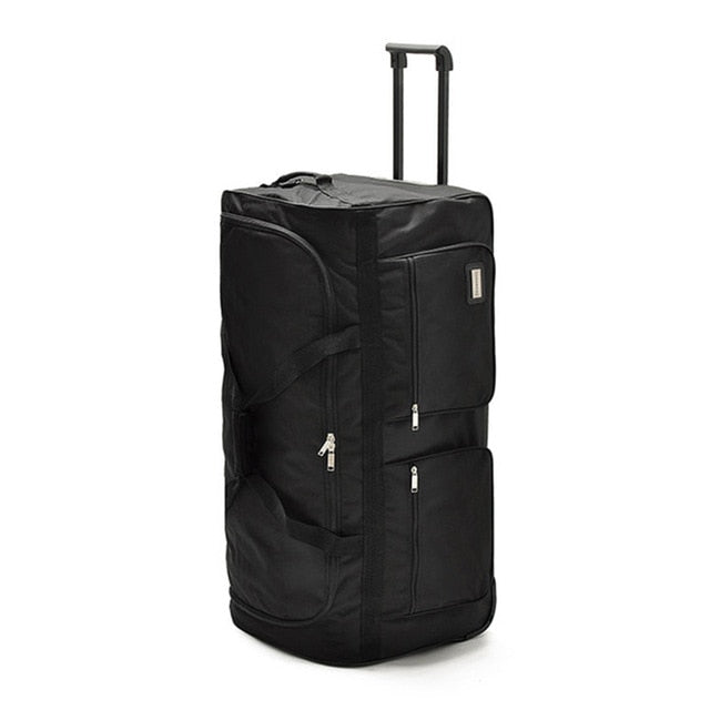 Wheels Trolley Oxford Student Checked Bag,Ultralight Rolling Luggage 32/40 Inch Large Capacity
