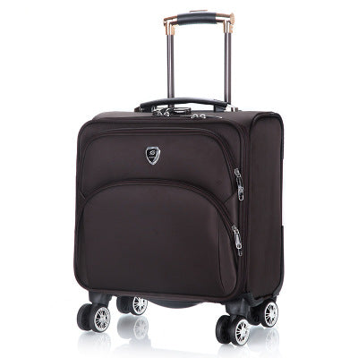 18 Inch Oxford Commercial Trolley Luggage High Quality Travel Suitcase Universal Wheel Aluminium