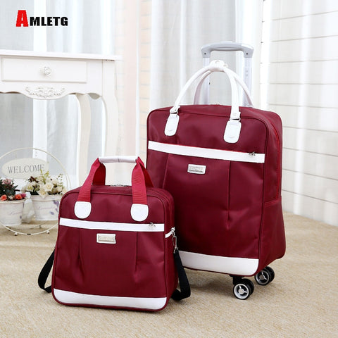 New Hot Fashion Women Brand Casual Stripes Case Rolling Rolling Luggage Trolley Luggage Trolley