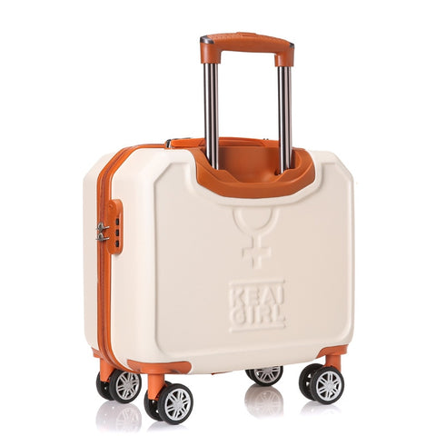 Small Universal Wheels Travel Luggage Bag Female 16 Trolley Luggage Mini Password Box,Korea Fashion