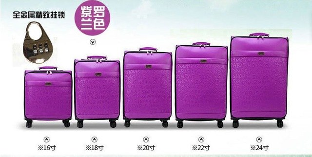 Luxury Women 'S Travel Luggage Fashion Leather Suitcase Waterproof Pu Leather Box With Wheel