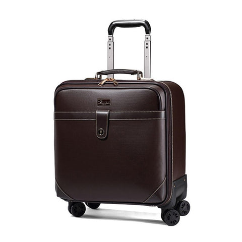 Retro Travel Suitcase Rolling Spinner Luggage Women Trolley Case 24Inch Wheels Man 20Inch Box Pvc