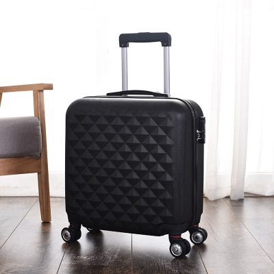 Wholesale!18Inches High Quality Abs Hardside Travel Luggage Bag On Universal Wheels For