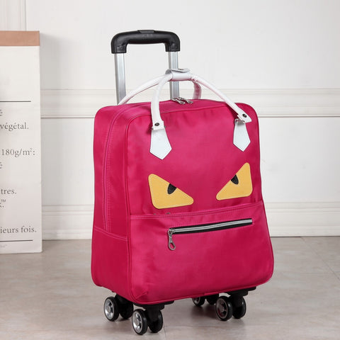 Women Cute Wheeled Trolleys Bag Suitcase  For Hand Luggage Travel Carry On Luggage With Wheels Free