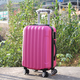 Universal Wheel Luggage,Vertical Stripe Lock Box,Light Travel Case,Business Boarding