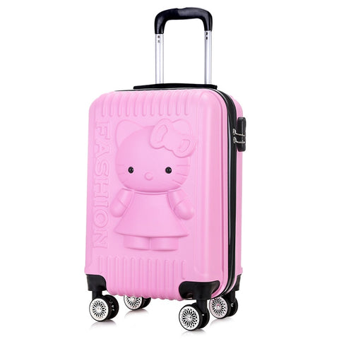 Gift Trolley Case,Cartoon Cat Suitcase,Cartoon Luggage,24 Inch Universal Wheel Trunk,20 Inch