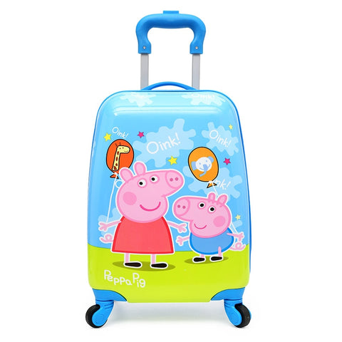 Suitcases And Travel Bags New Style Kids Carry-Ons Luggage 18 Inch Cartoon Universal Wheel Pull Rod