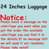 Wholesale!High Quality 20 22 24 26 28Inches Abs Pc Hardcase Travel Luggage Bags Sets On Brake