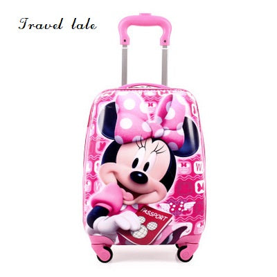 Travel Tale  Cartoon Children17 Inch Size Pc Rolling Luggage Spinner Brand Travel Suitcase Fashion