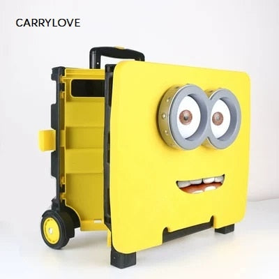 Carrylove Portable Folding Trolley Shopping Cart Grocery Shopping Cart Car Storage Box Luggage