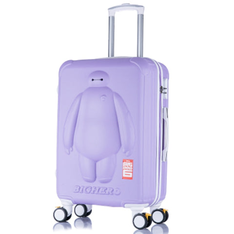 Lovely Big Hero 6 Children 20/24 Inch Students Cartoon Trolley Case 3D Child Travel Luggage