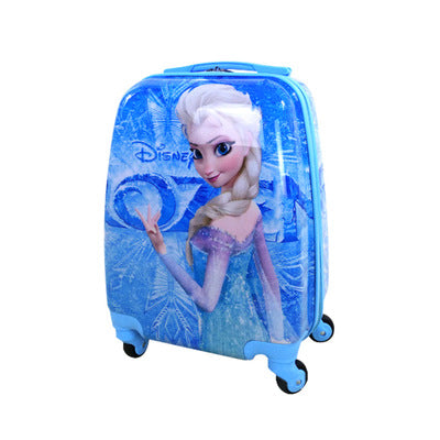 16-Inch Children'S Trolley Case Abs Pupils Cute Cartoon Trolley Case Ice Romance Boys And Girls