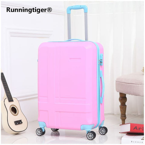 Rolling Luggage Spinner Wheels 24 Inch Suitcase Trolley Men Abs+Pc Travel Bag Trunk Student