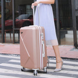 Travel Suitcase Set With Wheel Rolling Luggage Spinner Trolley Case Woman Cosmetic Case Carry-On