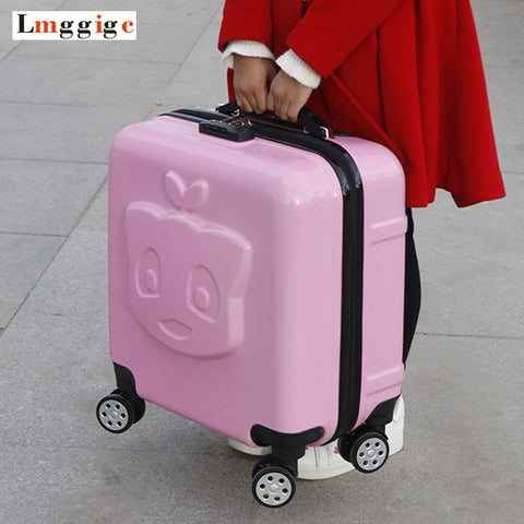 Child'S Rolling Luggage Bag, Kids Cabin Suitcase,Student'S Cartoon Travel Box, Children'S Gift