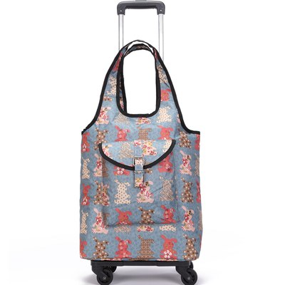 Travel Suitcase Bag,Cabin Luggage,Oxford Cloth Handbag With Wheel ,Grocery Shopping Cart,52*35*18
