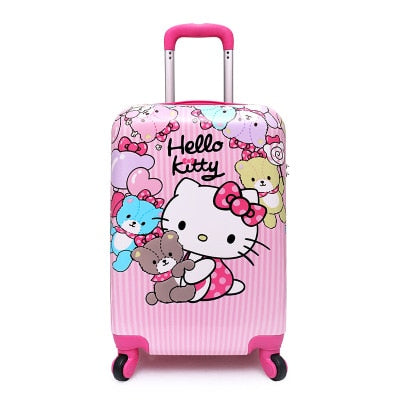 "16""Suitcase,Anime Cartoon Children'S Trolley Case,Primary School Student Trolley"