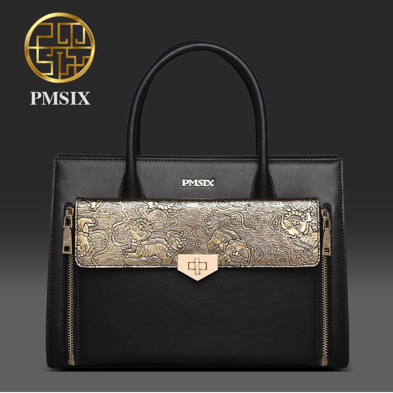 2019 Pmsix Autumn And Winter New Chinese Style Fashion Mother Middle-Aged Women Bag Leather
