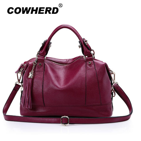 2019 New Women Hobo Tote Bag Bolsas Fashion 100% First Layer Soft Genuine Leather Handbag Messenger
