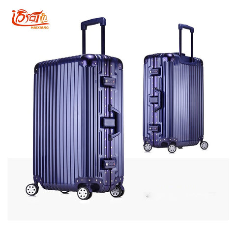 "Aluminum Frame+Pc+Abs Children'S Suitcases Trolley Luggage, 20""24""26""29""Inch Carry On Luggage,Water"