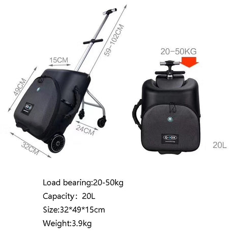 Carrylove High Quality And Convenient Kids Scooter Suitcase Lazy Carry On Rolling Luggage Ride On