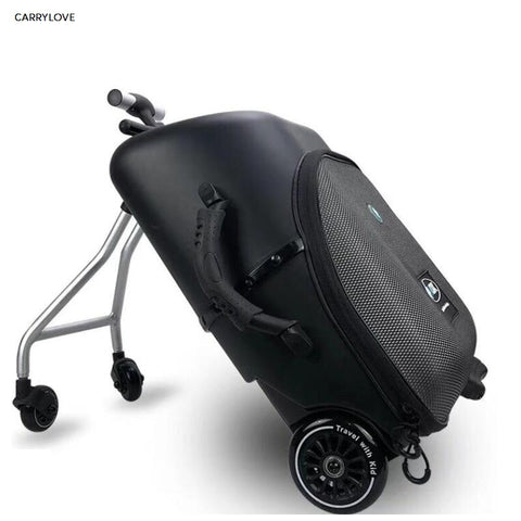 Travel Tale High Quality And Convenient Kids Scooter Suitcase Lazy Carry On Rolling Luggage Ride On