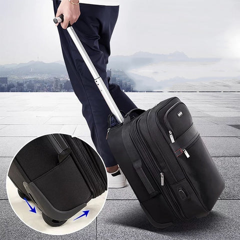 "Multi-Function Carry-Ons Trolley Case,Rolling Luggage,Detachable Travelcase,Usb Luggage,18""Boarding"