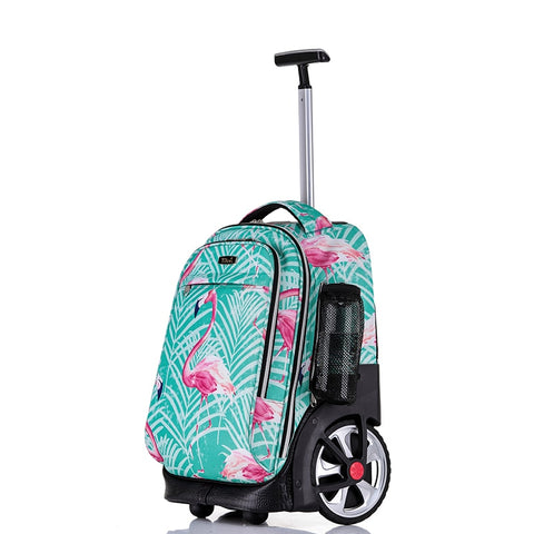 "Trolley Schoolbag With Wheel,Multi-Function Suitcase,Student Outdoor Luggage,19""Inchboarding"