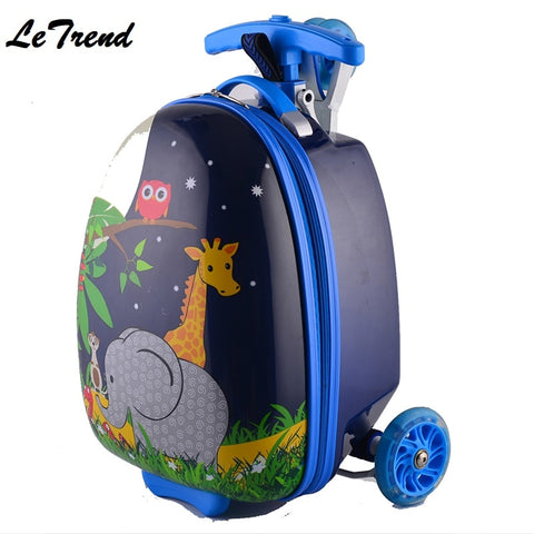Cute Kid Rolling Luggage Casters Wheels Suitcase For Children Trolley Student Travel Duffle Cute