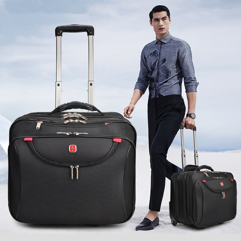 Hotsale!16Inches High Quality Businessman Computer Travel Luggage,Waterproof Swiss Trolley