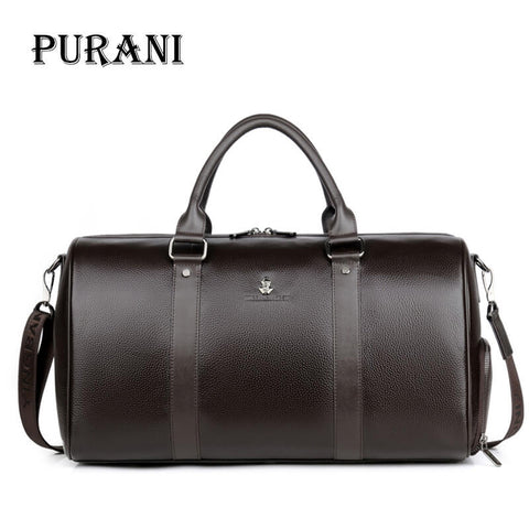 Purani Men Travel Bag For Luggage Men Genuine Leather Duffel Bag Suitcase Carry On Luggage Bags Big