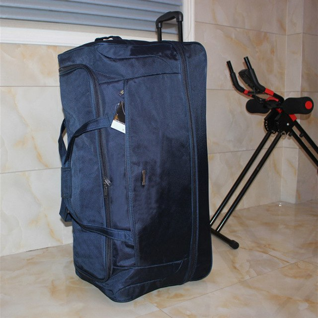 "34""Large Capacity Trolley Case,One-Way Wheel Oxford Cloth Luggage,Foldable Waterproof Men'S And"