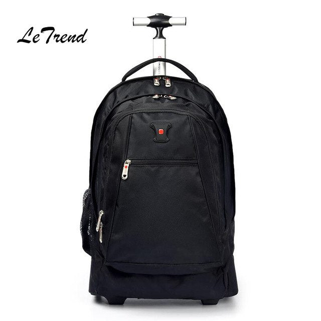 New Business Rolling Luggage Computer 20 Inch Backpack Shoulder Travel Bag Casters Trolley Carry On