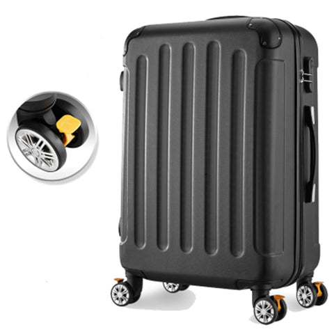 Travel Suitcase With Wheels 24 Inch Girl Trolley Case Rolling Carry-On Luggage Travel Bag Box Woman