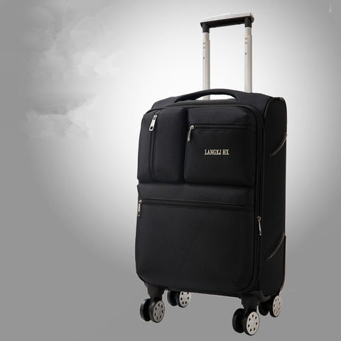 Luggage Trolley Luggage Female Male20 24 28Luggage Oxford Fabric Travel Bag Commercial Check