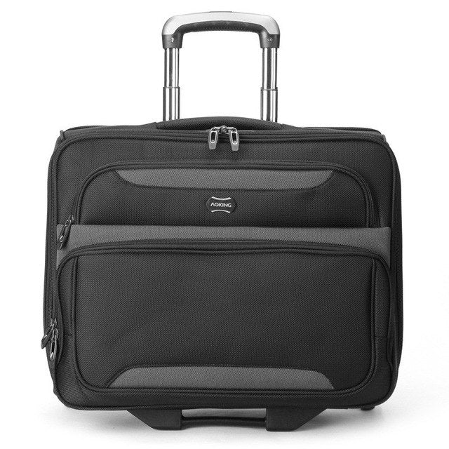 "Lightweight Carry-On Trolley Case,18""Business Boarding Box,One-Way Wheeled Luggage,High-Quality"