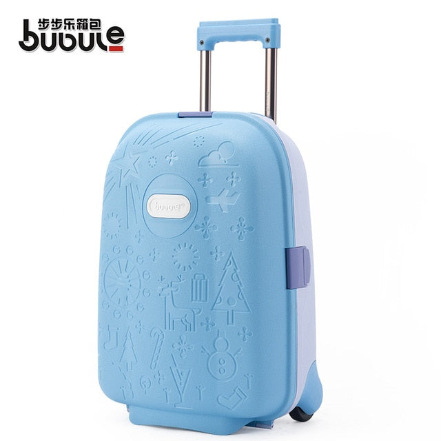 Traveling Luggage Bags With Wheels Kids Carry On Luggage 17 Inch Student Fixed Casters Suitcases