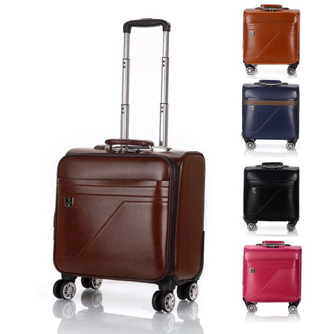 "Retro Universal Wheel Trolley Case,Waterproof Suitcase,16"" Cross Section Boarding Box,Square"