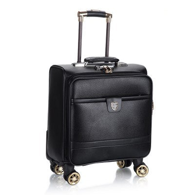 18-Inch Trolley Case,Business Men'S Luggage,Cross-Section Travel Suitcase, Universal Wheel