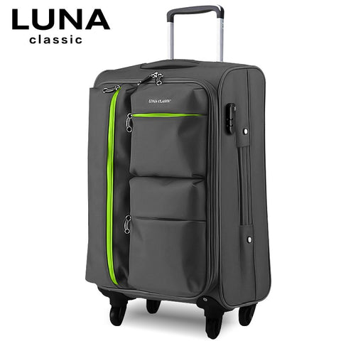 Universal Wheels Trolley Luggage Travel Bag Soft Box Luggage Bag 20 22 24 26 28 Luggage,High