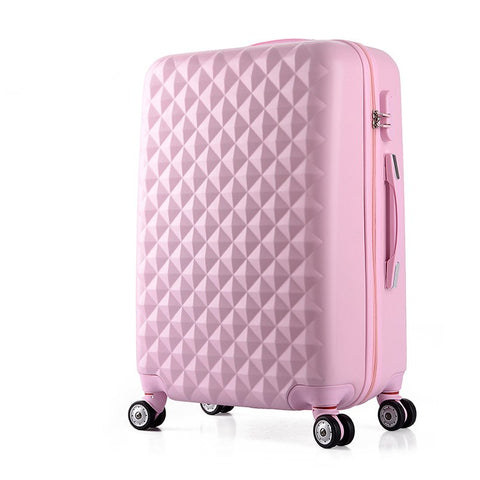 Wholesale!26Inches Abs+Pc Hardside Travel Luaggage Bags On Universal Wheels,Female Pink Green