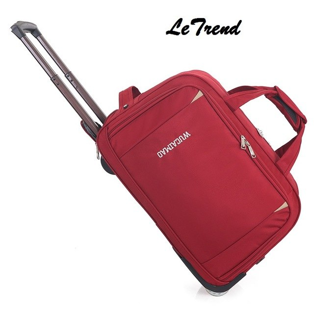 Letrend Rolling Luggage Men Travel Bag  Women Suitcases Wheel Trolley 20 Inch Business Carry On