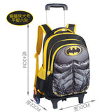 Children'S Six-Wheeled Trolley Bag,Primary School Detachable And Reduced Trolley Bag,Large Capacity