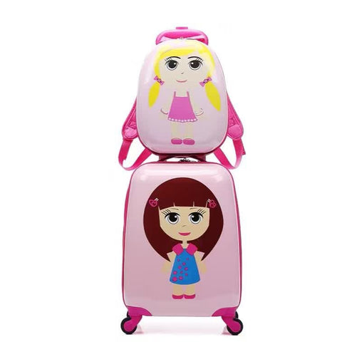 Letrend Cute Girls Rolling Luggage Set Spinner Kids Cartton Backpack Trolley Children Suitcase