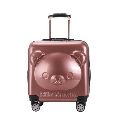 Student'S Cartoon Rolling Luggage ,Cabin Bag, Kids Suitcase, Child'S Travel Box, Children'S Gift
