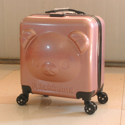 Cartoon Bear Trolley Case,Children'S 20Inch Suitcase,Cute Luggage,Abs+Pc Boarding Box,Universal