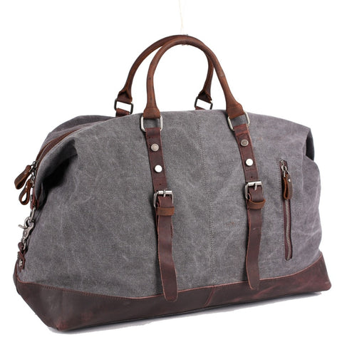 Vintage Multifunctional Large Capacity Carry On Canvas Luggage Bag For Men Duffel Bags Weekend