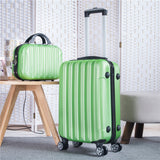 "Travel Suitcase Set Rolling Luggage Set Spinner Trolley Case 20"" Boarding Wheel Woman Cosmetic Case"