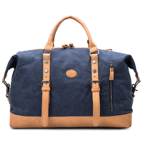 Canvas Leather Men Travel Bag Carry On Luggage Bags Casual Male Duffel Bags Travel Tote Large